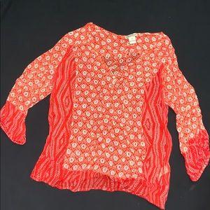 Sheer Lucky Brand blouse